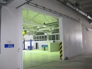 откатные противопожарные ворота EI60