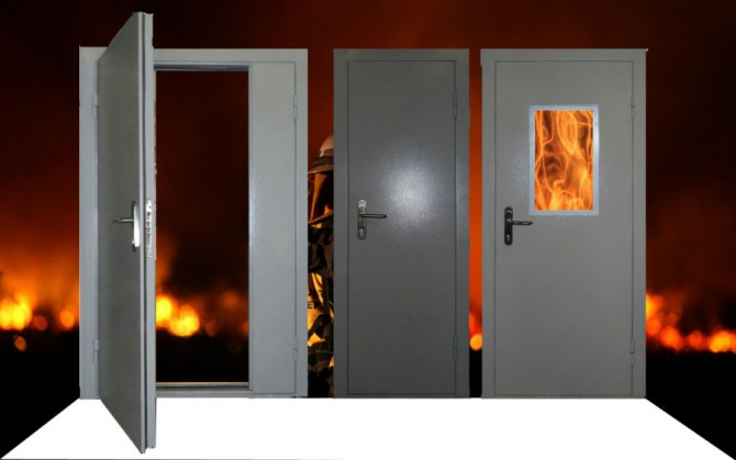 противопожарные двери дпм