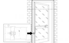 Контактная группа, контактная пара_схема установки на двери