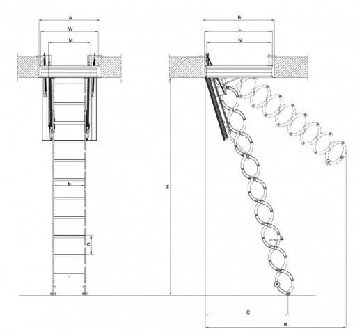 лестница чердачная противопожарная