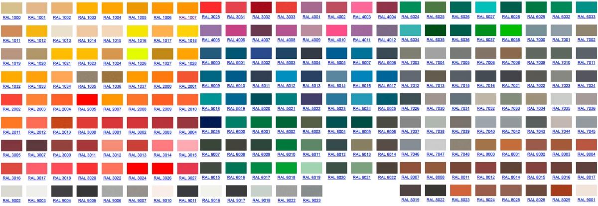 Мы выпускаем огнестойкие двери с возможностью окрашивания в любой цвет по каталогу RAL.