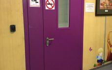 Дверь противопожарная в мед.центре